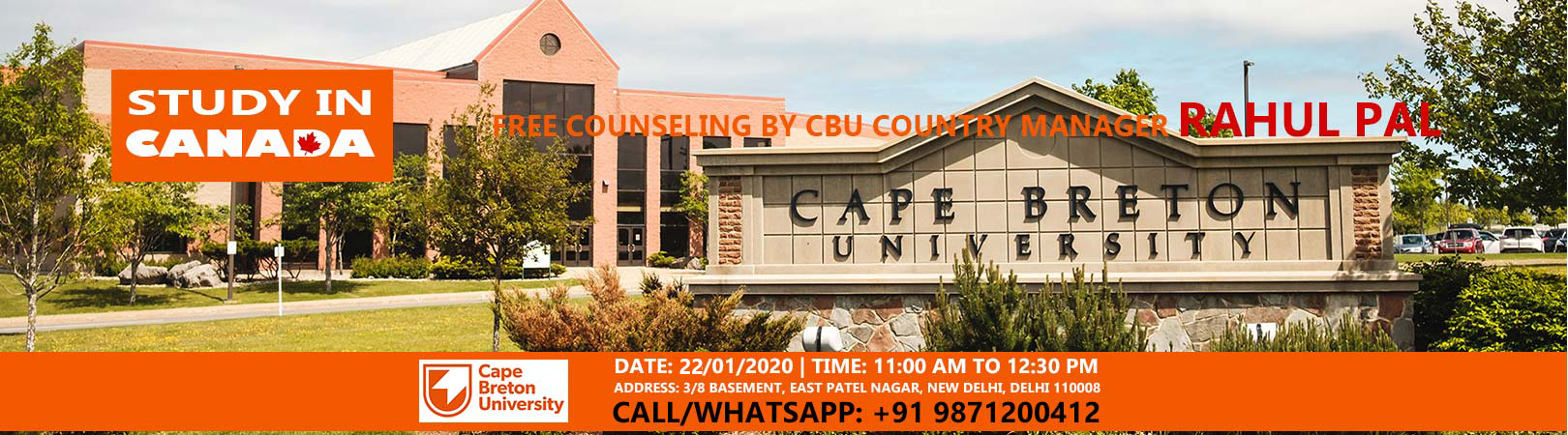 Study in Canada | Free Counseling by CBU Country Manager – Rahul Pal