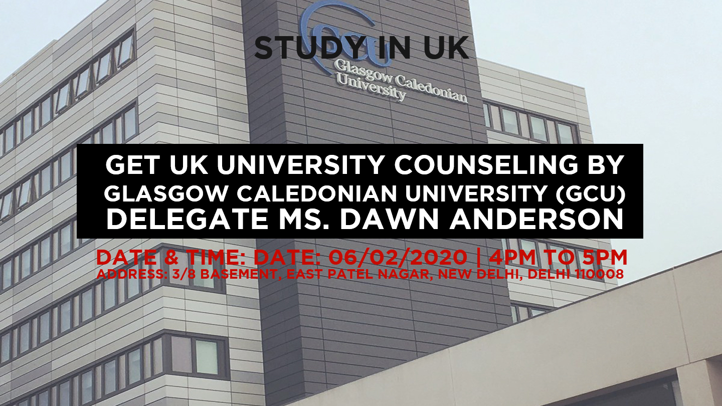 Get UK University counseling by Glasgow Caledonian University (GCU) Delegate Ms. Dawn Anderson