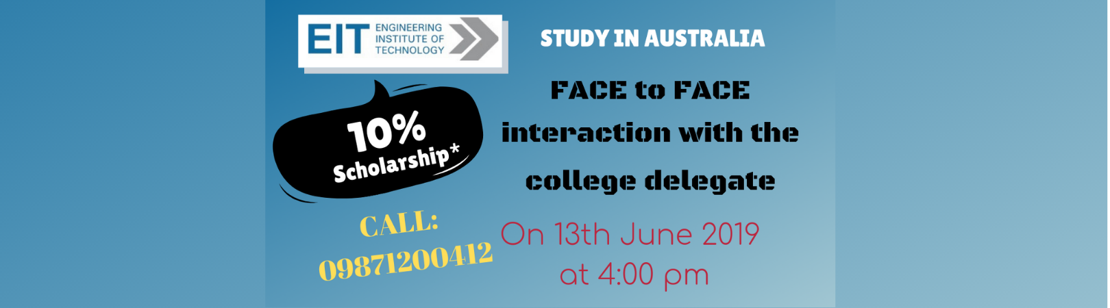 Face to Face Interaction with The Engineering Institute of Technology (EIT) delegate