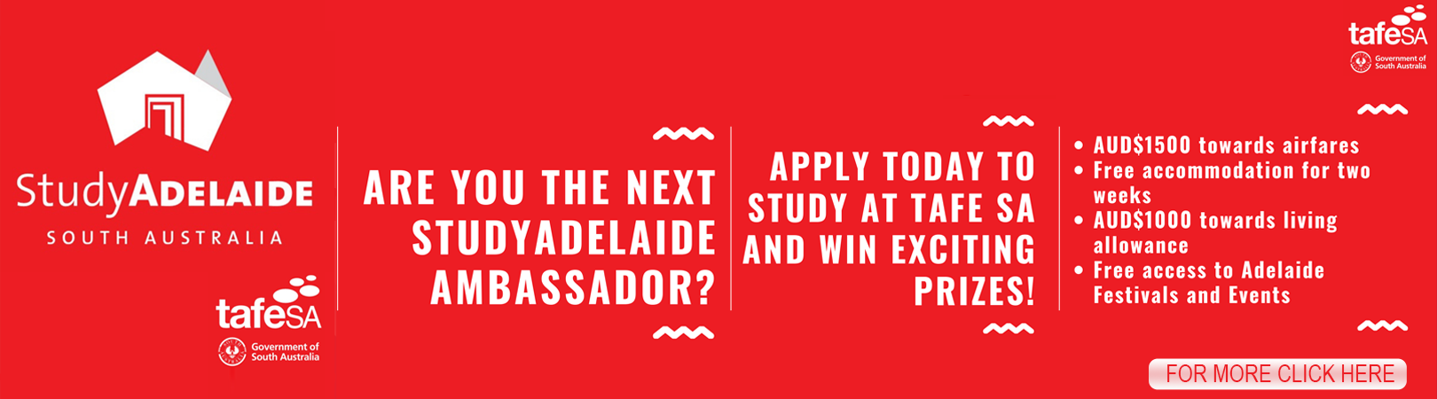 If you are planning to start studying at TAFE SA from July 2019, enter today to win an exciting student package worth AUD$4000